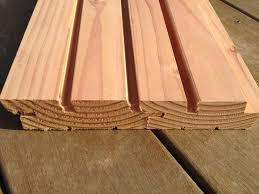 parement bois mural lames clôture douglas 34x125mm faux claire voie selection bois