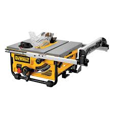 dewalt table saw folding stand compact table saw 10 15 a rona