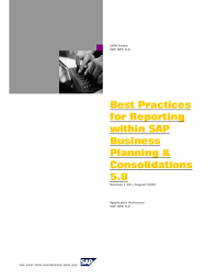 Sap Bpc Resume Samples by Best Practices For Reporting Within Sap Business Planning And Consoli U2026