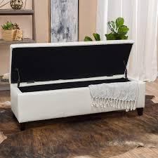 homelegance afton lift top storage bench ottoman cream fabric also