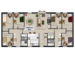 six bedroom floor plans 1 6 bed apartments king henry apartments
