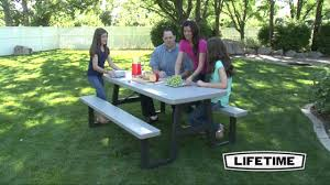 Lifetime Folding Picnic Table Instructions by 6 Ft W Frame Picnic Table Putty Youtube