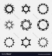 circle tribal ornaments royalty free vector image