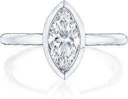 marquise diamond engagement ring tacori bezel set marquise diamond engagement ring 300 2mq