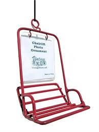 ski chairlift photo ornament