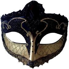 mardigras masks black and gold mardi gras mask accessory walmart
