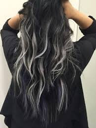 silver brown hair tape in hair extensions balayage ombre color off black 1b to grey