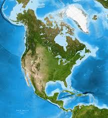 north america satellite image giclee print enhanced physical