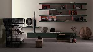 vintage room space with modern wall units on white classy look