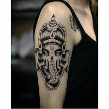 ganesha tattoo on shoulder 12 exquisite blackwork ganesha tattoos tattoodo