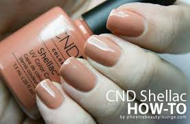 cnd shellac step by step instruction nail art phoenix beauty