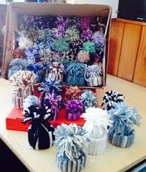 how to make winter yarn ornaments diy alldaychic