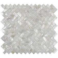 white herringbone pearl shell tile subway tile outlet