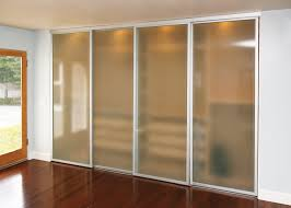 frosted glass sliding closet doors with silver frame inspirational