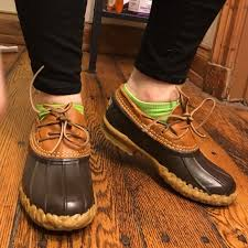womens ll bean boots size 11 72 l l bean shoes l l bean rubber moc duck bean