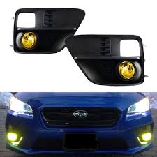 jdm subaru 2016 amazon com ijdmtoy complete set yellow lens fog lights foglamp