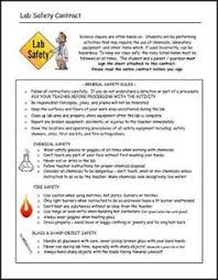 here u0027s a simple science safety contract this one has 6 basic