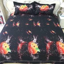 modern chic design 3d fruit orange bedding sets queen size 100