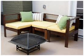 Diy Couch Cushions Small L Shaped Diy Outdoor Couch With Yellow Removable Cushions Of