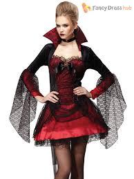 ladies vampire costume vampiress halloween fancy dress