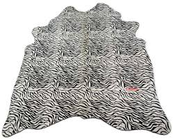 Genuine Zebra Rug Zebra Print Cowhide Rug