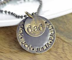 mens personalized necklace personalized s necklace s day gift necklace
