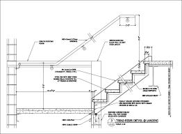Stair Cad Block by Free Cad Details Stair Landing Detail U2013 Cad Design Free Cad