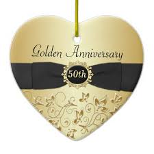 50th wedding anniversary ornament wedding anniversary