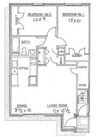 amazing floor plan 2 bedroom apartment on bedroom throughout