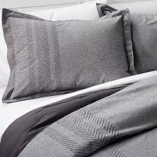 Target Black And White Comforter Gray Arrow Embroidered Chambray Comforter Set Full Queen