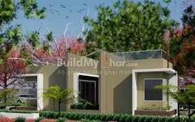summer 2 bhk house design plan