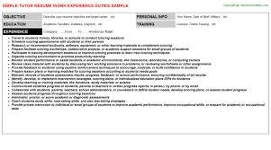 Math Tutor Resume Sample by Tutor Job Title Docs