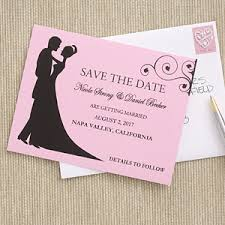 Save The Date Postcards Save The Date Cards Bride U0026 Groom Silhouette Wedding Gifts