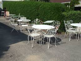 Patio Chair Repair Mesh Furniture Wrought Iron Patio Furniture For Best Material Outdoor