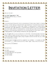 how to write invite letter