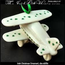 plane ornament with shamrocks