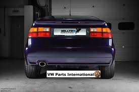 volkswagen corrado stance vw corrado vr6 milltek cat back exhaust system resonated polished