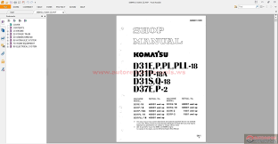komatsu bulldozers da31p 18 shop manual auto repair manual forum
