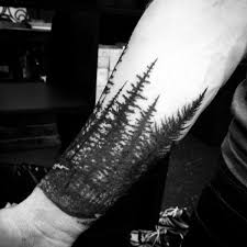 70 pine tree tattoo ideas for men wood in the wilderness