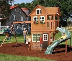 Sears Backyard Playsets Set Playset Playground Outdoor Swing Backyard Kids Swingset Play