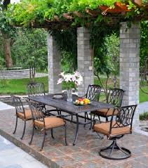 Patio Table 6 Chairs Mayfair By Hanamint Luxury Cast Aluminum Patio Furniture 54