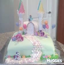 my pony birthday cake my pony castle cake huggies birthday cake gallery huggies
