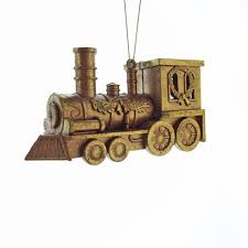 gisela graham old gold train christmas tree decoration