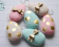 Easter Decorations Ireland by Felt Easter Eggs Etsy