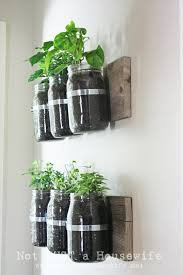 Wall Mounted Planters by Wall Mounted Mason Planters For Those Who Have A Lot Of Indoor