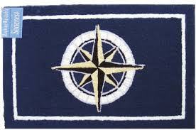 Nautical Kitchen Rugs Outdoor Rug Kitchen Mat Hooked Rug Look Nautical Decor