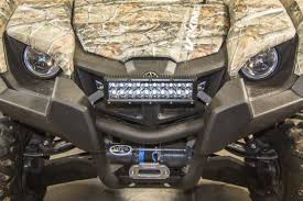 10 Inch Led Light Bar by Inc Yamaha Viking Bumper Mount For 10