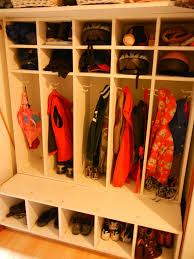 hallway closet room for 5 kids and an attempt to organize coats