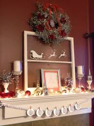 christmas door decorating fireplace decoration beautiful white