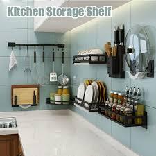 kitchen shelf storage ikea wall mount pot pan rack hanger hanging kitchen storage shelf organizer holder